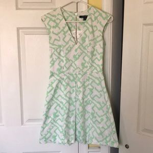 French Connection Mint and White sleeveless dress